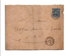 SAGE SUR LETTRE DE LA CLAYETTE SAONE ET LOIRE 1884 - Marcophilie (Lettres)
