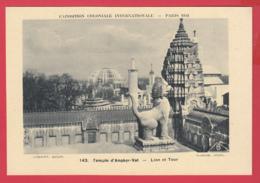 CPA-75-PARIS EXPO COLONIALE 1931 -Temple D'Angkor-Vath - LION Et TOUR -*SUP* 2 SCAN- - Expositions