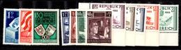 Autriche YT N° 788/790, N° 794/797 Et N° 845/849 Neufs ** MNH. TB. A Saisir! - 1945-.... 2ème République
