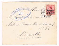 OC 3 Op Brief ATH 1915 Censure Militarische Uberwachungsstelle CTR  ATH - WW I
