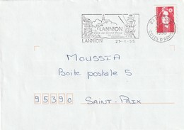 """Env. De """"Lannion - 22, Côtes D'Armor"""" Du 21-08-1995, """"Côte De Granit Rose""""  Sur Mar. Du Bicentenaire - Annullamenti Meccanici (pubblicitari)"""