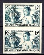 AEF YT N° 230 Bel Essai De Couleur En Paire Neufs ** MNH. TB. A Saisir! - A.E.F. (1936-1958)