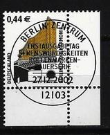 BUND Mi-Nr. 2298 Eckrandstück Rechts Unten Freimarke Berliner Philharmonie Gestempelt - BRD