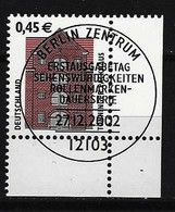 BUND Mi-Nr. 2299 Eckrandstück Rechts Unten Freimarke Tönninger Packhaus Gestempelt - BRD