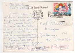 : Beau Timbre , Stamp  Yvert N° 136?  Sur Cp , Carte , Postcard Du 03/04/1989  Pour La France - Brieven En Documenten