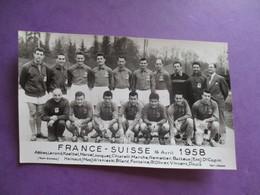 PHOTO EQUIPE DE FOOT FRANCE SUISSE 16 AVRIL 1958 - Sports