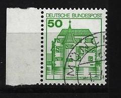 BUND - Mi-Nr. 1038 Linkes Randstück Burgen Und Schlösser Gestempelt - Gebraucht