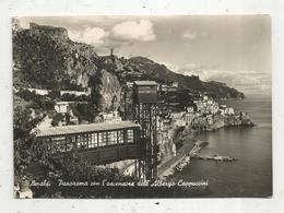 Cp, ITALIE ,AMALFI ,panorama Con L'ascensore Dell' Albergo Cappuccini , Voyagée - Salerno