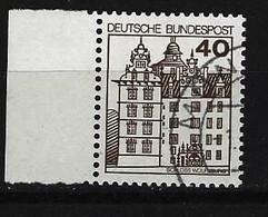 BUND - Mi-Nr. 1037 Linkes Randstück Burgen Und Schlösser Gestempelt - Gebraucht