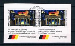 Marshallinseln 1990 Brandenburgertor Mi.Nr. 320 Waagr. Paar Gestempelt - Marshallinseln