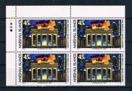 Marshallinseln 1990 Brandenburgertor Mi.Nr. 320 4er Block ** - Marshallinseln
