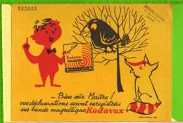 BUVARD & Blotting Paper : Bande Magnetique KODAVOX Le Corbeau Et Le Renard  Lille - Elektrizität & Gas