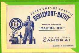 BUVARD & Blotting Paper : Vetement BERLEMONT DATHY MARTIN-TINE  CAMBRAI - Textilos & Vestidos