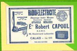 BUVARD & Blotting Paper :  Radio Electricité  Robert CAPOUL  CALAIS - Elektrizität & Gas