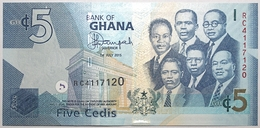 Ghana - 5 Cedis - 2015 - PICK 38f - NEUF - Ghana