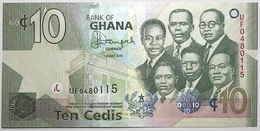 Ghana - 10 Cedis - 2015 - PICK 39f - NEUF - Ghana