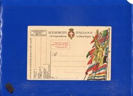 ##(DAN1911/1)-1918-Cartolina Postale  Franchigia R.Esercito Vittoria Alata E Bandiere Stampa Cartiere Binda-Milano-nuova - 1900-44 Vittorio Emanuele III