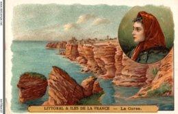 CHROMO  LE CAFE MARTIN  LITTORAL ET ILES DE LA FRANCE  LA CORSE - Tea & Coffee Manufacturers