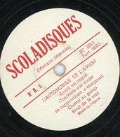 """78T (25 Cm) SCOLADISQUES """"L'AUTOMOBILE ET L'AVION"""" N°B5 (VOIR SCAN POUR LES TITRES) - 78 Rpm - Schellackplatten"""
