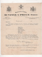 192? - LETTRE BISCUITS & CAKES Mc VITIE & PRICE FRANCE COURBEVOIE - Food