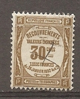 TAXE - Yv. N°  46   (o)    30c  Bistre  Cote  0,5    Euro BE  R  2 Scans - 1859-1955 Used