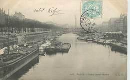 PARIS - Canal Saint Martin, Péniches. - Hausboote