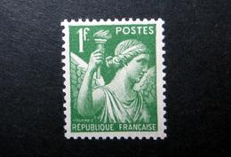 FRANCE 1939 N°432 ** (IRIS. 1F VERT) - 1939-44 Iris