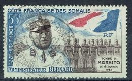 French Somali Coast, A. Bernard, Colonial Administrator, 1960, FU Airmail - Gebraucht