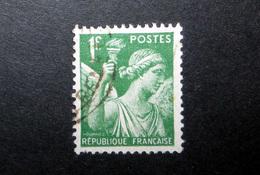 FRANCE 1939 N°432 OBL. (IRIS. 1F VERT) - 1939-44 Iris