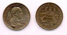 MONACO -- Pièce De 10 Francs Fondation Prince Pierre 1989 - 1960-2001 Nouveaux Francs