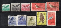 XP3711 - BIRMANIA MYANMAR , Servizio 10 Valori Usati (2380A) Uccelli - Myanmar (Burma 1948-...)