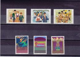 LIECHTENSTEIN 1980 COSTUMES NOËL Yvert 695-697 + 702-704 NEUF** MNH - Liechtenstein