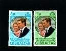 GIBRALTAR - 1973  WEDDING  SET  MINT NH - Gibilterra