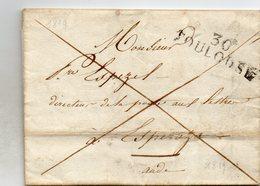 Haute-Garonne - LAC Datée 30/04/1819 Marque 30/TOULOUSE Franchise Dir Des Postes (lettre Avec échantillons De Tissus) - Marcophilie (Lettres)