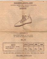 VP16.122 - 1949 - Publicité - Espadrille  ¨ BASQUAISE N° 2 ¨  Etablissements Alexandre GLEMOT à SAINT - BRIEUC - Pubblicitari
