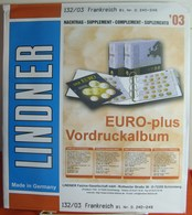 Lindner - Jeu FRANCE 2003 - Fogli Prestampati
