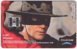 ARGENTINIA A-362 Chip Telecom - Cinema, Zorro - Used - Argentine