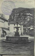 ENVIRONS DE VINAY - Cognin, La Place Et La Fontaine (cachet 1er Régiment D'artillerie De Montagne). - Frankreich