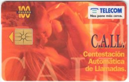 ARGENTINIA A-384 Chip Telecom - People, Family - Used - Argentine