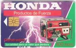 ARGENTINIA A-390 Chip Telecom - Advertising, Generator, Honda - Used - Argentina