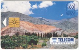 ARGENTINIA A-391 Chip Telecom - Landscape, Mountain - Used - Argentina
