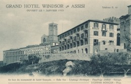 Z.832. ASSISI - Perugia - Grand Hotel Windsor - Ediz. Brunner - Italia