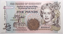 Guernesey - 5 Pounds - 1993 - PICK 56a - NEUF - Guernsey