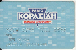 GREECE - Radio Korasidi, EuroBank, Credit Card, Used - Cartes De Crédit (expiration Min. 10 Ans)