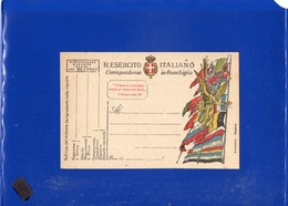 ##(DAN1911/1)-1918-Cartolina Postale In Franchigia R.Esercito Vittoria Alata E Bandiere, Stampa Armanino-Genova - 1900-44 Vittorio Emanuele III
