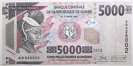 Guinée - 5000 Francs - 2015 - PICK 49 - NEUF - Guinée