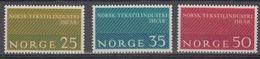Norway 1963 Norwegische Textilindustrie 3v ** Mnh (45306C) - Noorwegen