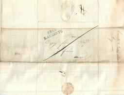 LETTRE   1820  De Lauzerte à Foix  Marque Linéaire    2scans - Marcophilie (Lettres)
