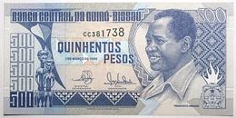 Guinée-Bissau - 500 Pesos - 1990 - PICK 12 - NEUF - Guinea-Bissau