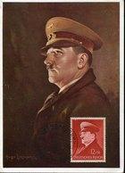 49306 Germany Reich Maximum Hitler, Postmark Obersalzberg 20.4.1941 Original Painting Of Hugo Lehmann !!!! (mi-772 - Allemagne